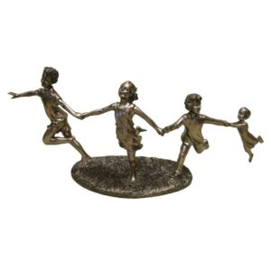 Photo of 4 Children Running Bronze Figurine (Juliana)