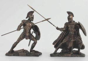 Photo of Achilles and Hector In Battle Bronze Figurine 25.5 cm