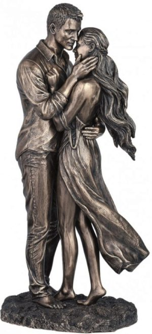 Photo of Amour Nude Couple Bronze Figurine 36 cm