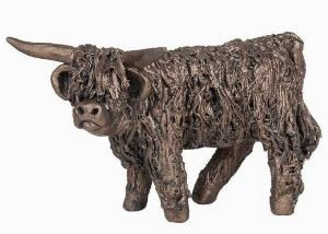 Photo of Angus Highland Bull Standing Bronze Figurine Small (Veronica Ballan) Frith Minima