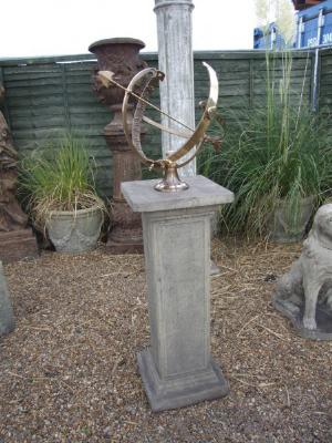 Photo of Athenian Stone Pedestal with Brass Armillary