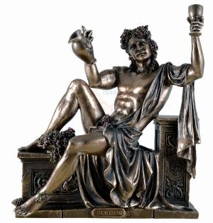 Photo of Bacchus Sitting God of Wine Bronze Statue