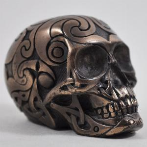 Photo of Bronze Celtic Design Small Skull