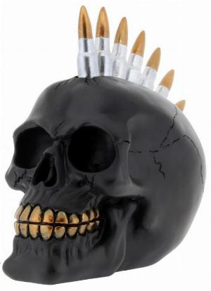 Photo of Bullet Skull Black and Gold Ornament