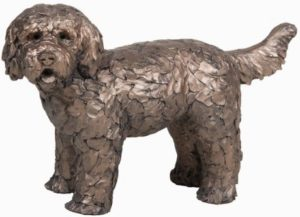 Photo of Button the Labradoodle Bronze Sculpture (Frith)