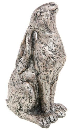 Photo of Champagne Bronze Moongazer Hare Sculpture 23 cm