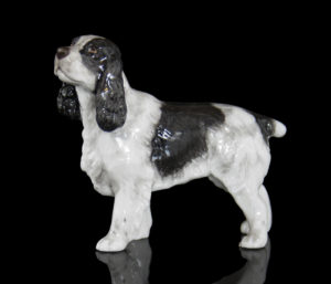 Photo of Cocker Spaniel Hand Painted Fine Bone China Miniature Figurine