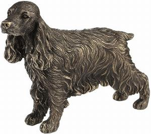 Photo of Cocker Spaniel Standing Bronze Dog Sculpture 18 cm