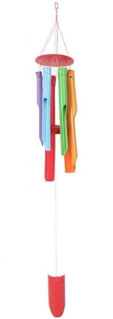 Photo of Colourful Bamboo Wind Chime 80 cm