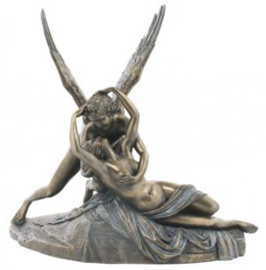Photo of Cupid and Psyche Bronze Statue
