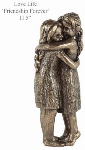 Photo of Friendship Forever Bronze Figurine