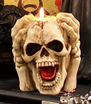 Photo of Insane Screaming Skull Tea Light Holder 15.5cm