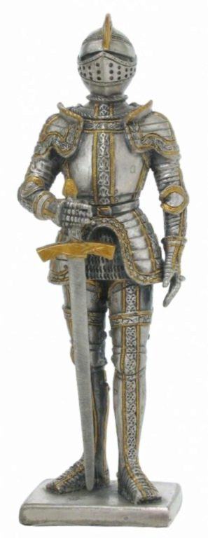 Photo of Knight with Great Sword Pewter Figurine