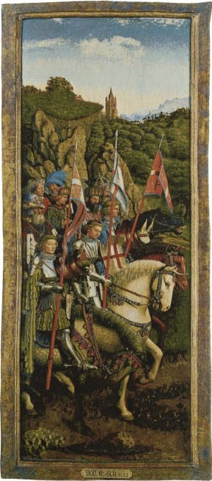 Phot of Knights Of Christ By Jan Van Eyck Wall Tapestry