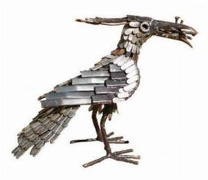 Photo of Lapwing Bird Metal Garden Ornament (Feeding)