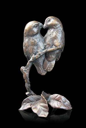 Photo of Lovebirds Small Bronze Figurine (Limited Edition) Michael Simpson
