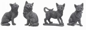 Photo of Lucky Black Cat Figurines Set of 4