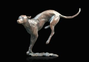 Photo of Lurcher Bronze Figurine (Limited Edition) Michael Simpson