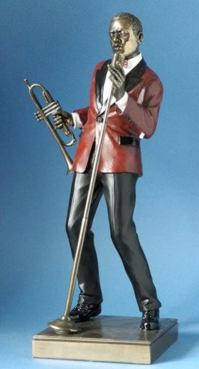 Photo of Male Singer Jazz Bronze Figurine