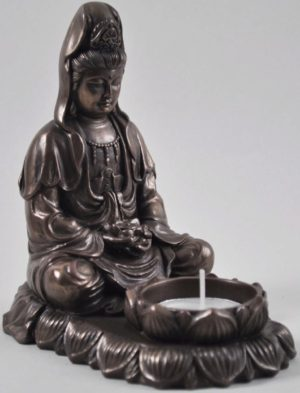 Photo of Meditating Buddha Tealight Holder 13cm