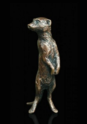 Photo of Meerkat Standing Bronze Miniature (Butler and Peach)