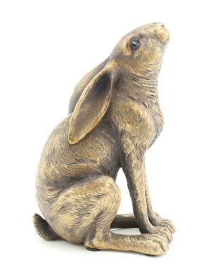 Photo of Moon Gazing Hare Bronze Figurine Leonardo Collection 12cm