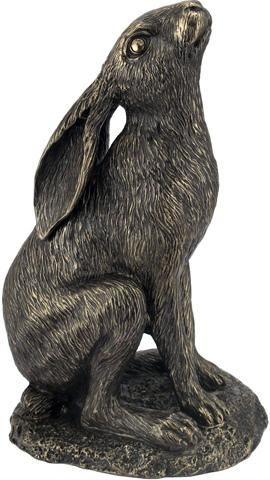 Photo of Moongazing Hare Bronze Figurine