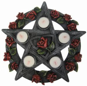 Photo of Pentagram Rose Tealight Holder 30 cm