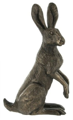 Photo of Poppy Standing Hare Bronze Sculpture (Harriet Glen)