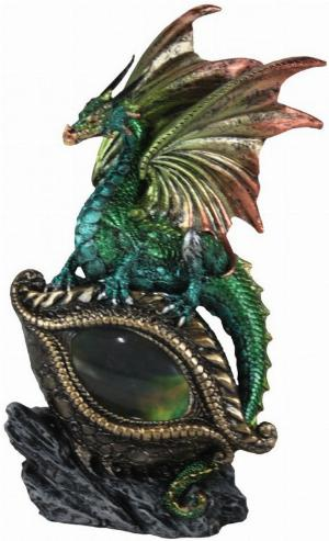 Photo of Protector of the Eye Green Dragon Light Feature Figurine (Alator) 21 cm
