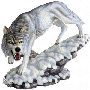 Photo of Prowling Winter Wolf Figurine 40cm Large