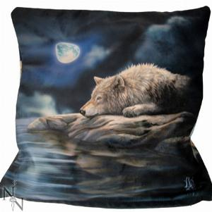 Photo of Quiet Reflection Wolf Cushion (Lisa Parker)