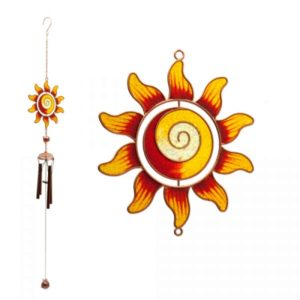 Photo of Red and Yellow Sunflower Spiral Centre Wind Chime