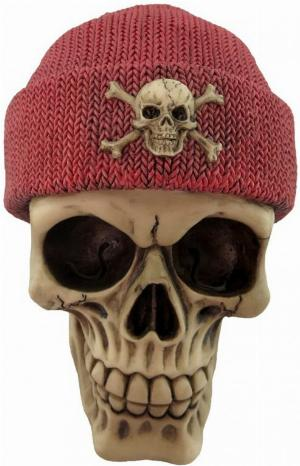 Photo of Red Beanie Hat Skull 16cm