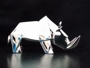 Photo of Rhino Standing Hallmarked Sterling Silver Miniature NOMI Design