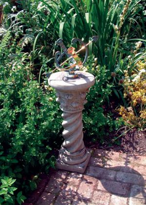 Photo of Roman Stone Column with Brass Armillary
