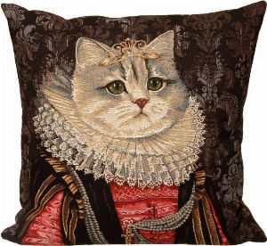 Phot of Royal Cat with Crown III Tapestry Cushion