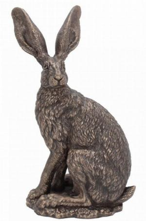 Photo of Sit Tight Alert Hare Bronze Figurine (Andrew Bill)
