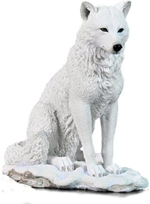 Photo of Snow Wolf Sitting Figurine