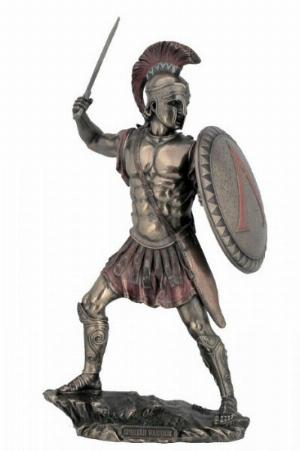 Photo of Spartan Warrior Bronze Figurine 33 cm