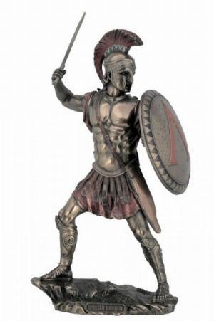Photo of Spartan Warrior Bronze Figurine 33 cm