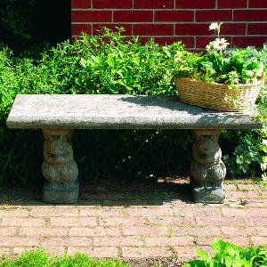 Photo of Straight Squirrel Stone Bench