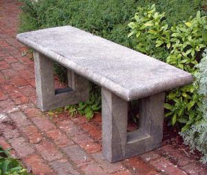 Photo of Straight Top on Worth Bases Stone Bench