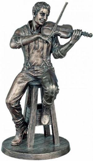 Photo of The Fiddle Player Bronze Figurine