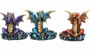 Photo of Three Wise Dragons (Set of 3) Small Dragon Ornaments