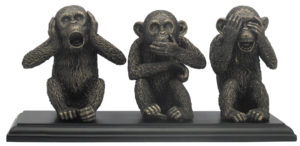 Photo of Three Wise Monkeys Bronze Figurine