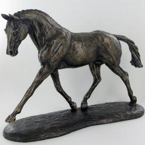 Photo of Trotting Warmblood Bronze Horse Figurine (Harriet Glen)