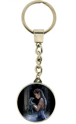 Photo of Water Dragon Crystal Keyring (Anne Stokes)