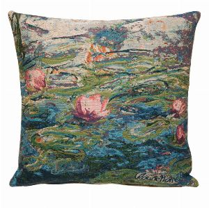 Phot of Water Lilies By Monet Tapestry Cushion Ii