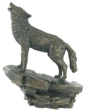 Photo of Wolf Bronze Figurine 23 cm